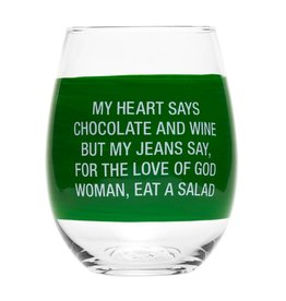 ABOUT FACE DESIGNS STEMLESS WINE GLASS