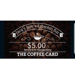 $5.00 ESPRESSO BAR CARD