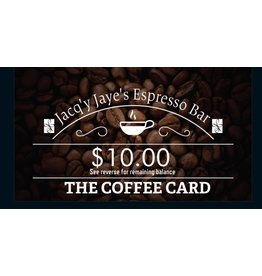 $10.00 ESPRESSO BAR CARD