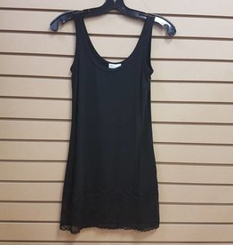 BAMBOO TANK WITH LACE TRIM