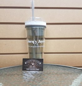 JACQY JAYES TUMBLER w/5.00 coffee card