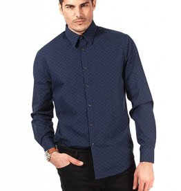 POINT ZERO LUXURY L/S PRINTED DRESS SHIRT