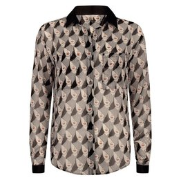 ESQUALO FACE PRINT BLOUSE