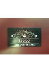 20.00 ESPRESSO BAR CARD