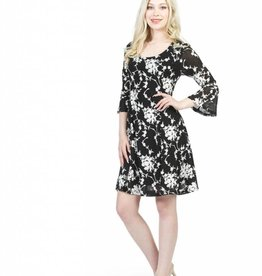 PAPILLON FIT N' FLARE STRETCH DRESS