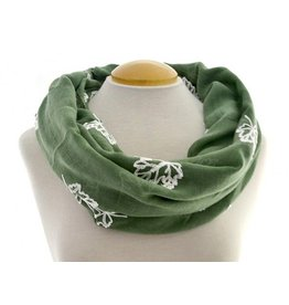 INFINITY LIGHT WEIGHT LEAF SCARF