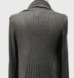 OBJECTS OF DESIRE FIT & FLARE CHARCOAL CARDIGAN