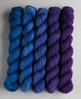 Sweet Georgia Party of Five Blues/Purples/Greens