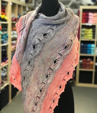 Purls of Wisdom Odyssey Shawl Kit