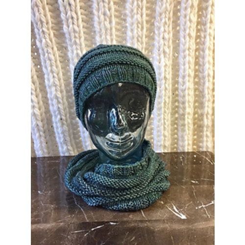 Designs of Wisdom Knit Purl Hat and Cowl Set Kit