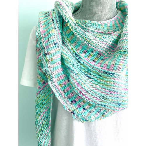 Purls of Wisdom Breathe and Hope Shawl Kit Luxe