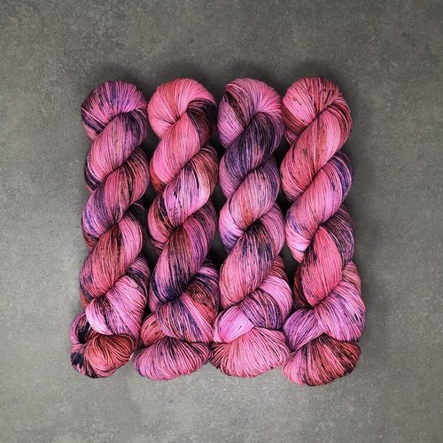 Less Traveled Yarns Less Traveled Sock Purples/Pinks