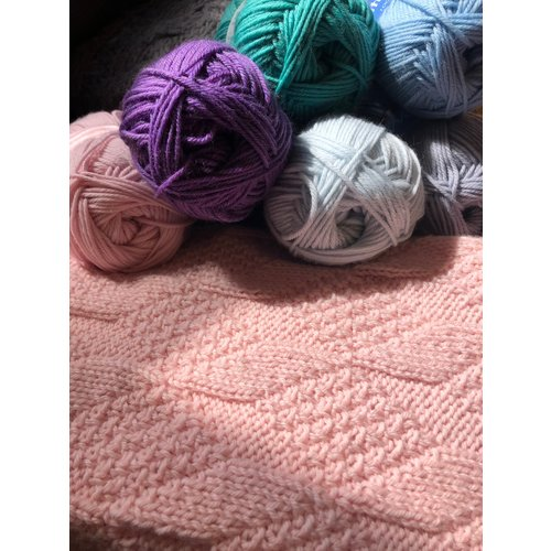 Purls of Wisdom Grandma Birdie's Baby Blanket Kit