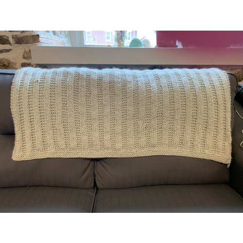 Purls of Wisdom Garter Rib Baby Blanket Kit (Chunky)