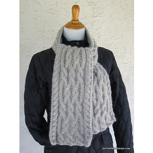 Purls of Wisdom Celtic Cable Scarf Kit