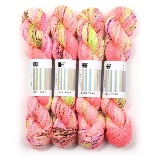 Hedgehog Fibres Hedgehog Sock Red/Orange/Pinks -