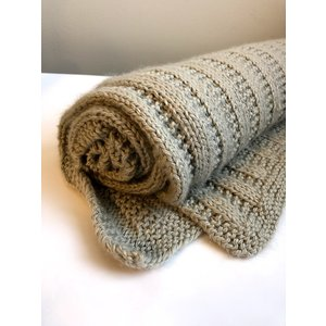 Purls of Wisdom Garter Rib Throw Blanket Kit
