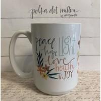 Polka Dot Mitten Mug