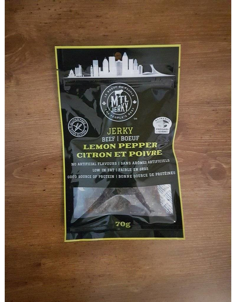 Mtl Jerky Jerky Meat - Lemon Pepper - 70g