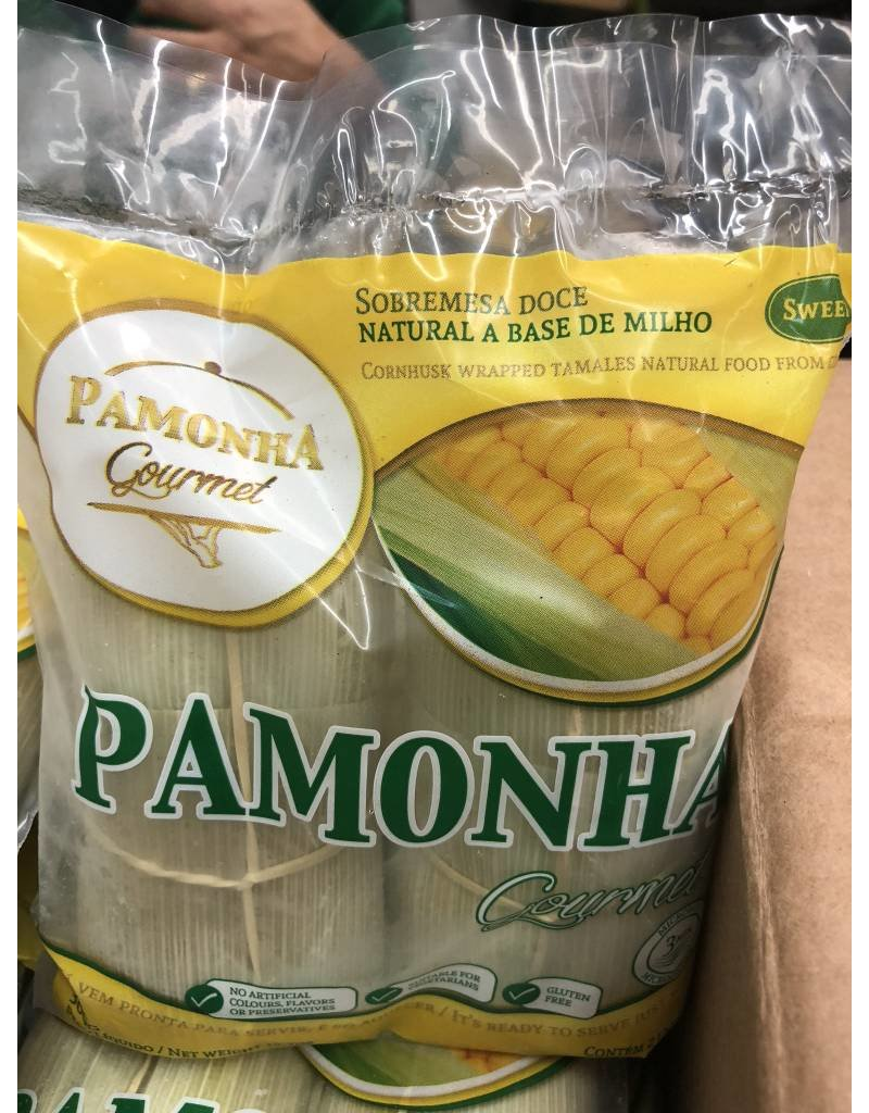 Pamonha Gourmet Sweet Corn cakes (Pamonha) (served in corn Husks)