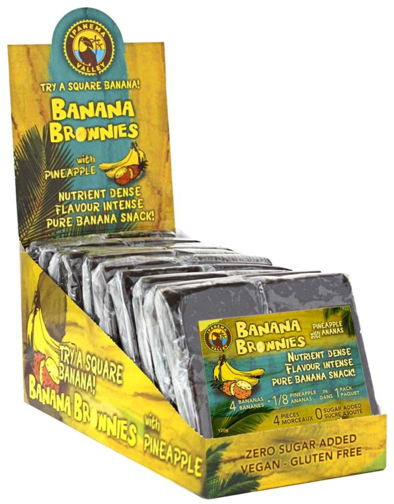 Ipanema Valley Banana Brownies with pineapple - 120g