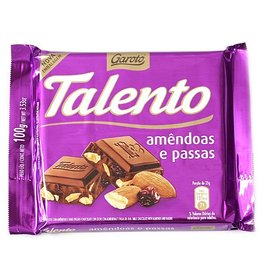 Garoto Chocolat aux Amandes et Raisins Secs - 100g