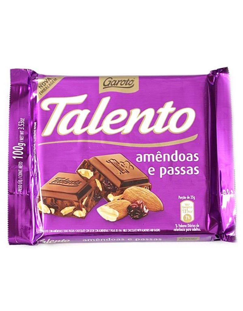 Garoto ALmonds & Raisins Chocolate - 100g