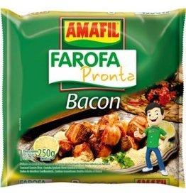 Amafil Farofa (yucca crumbs) - Bacon - 250g
