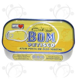 Bom Petisco Tuna in Vegetable Oil - 120g
