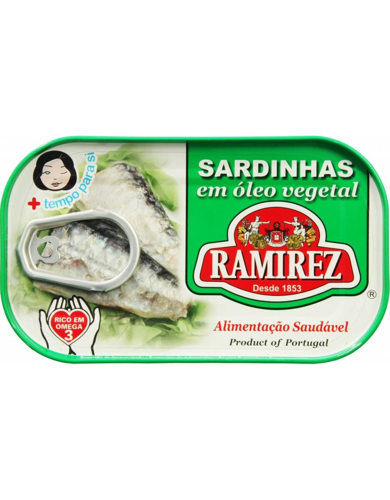 Ramirez Sardines in Vegetable Oil - 120g