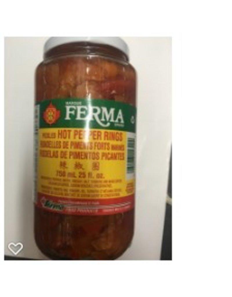 Ferma Hot Peppers Rings - 750ml