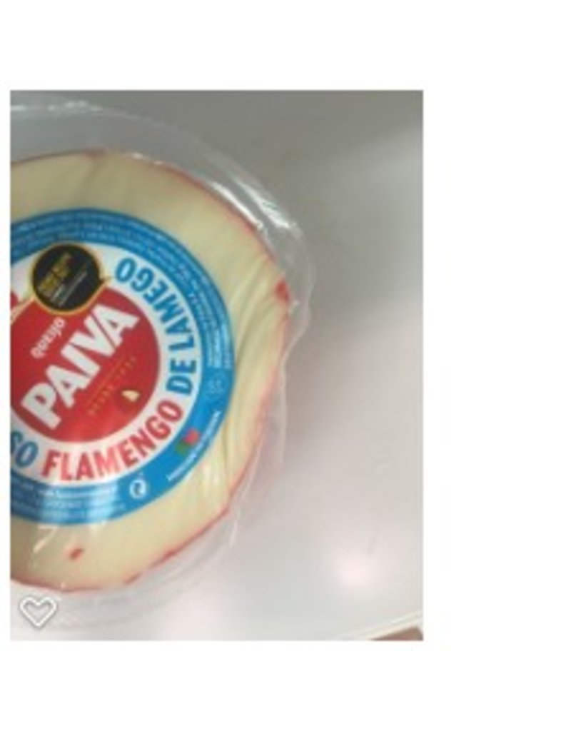 Queijo Paiva Cow's Milk cheese- round - Flamengo - 600g
