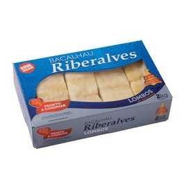 Riberalves Pre-soaked Cod Fish Loin - frozen - 2 kg