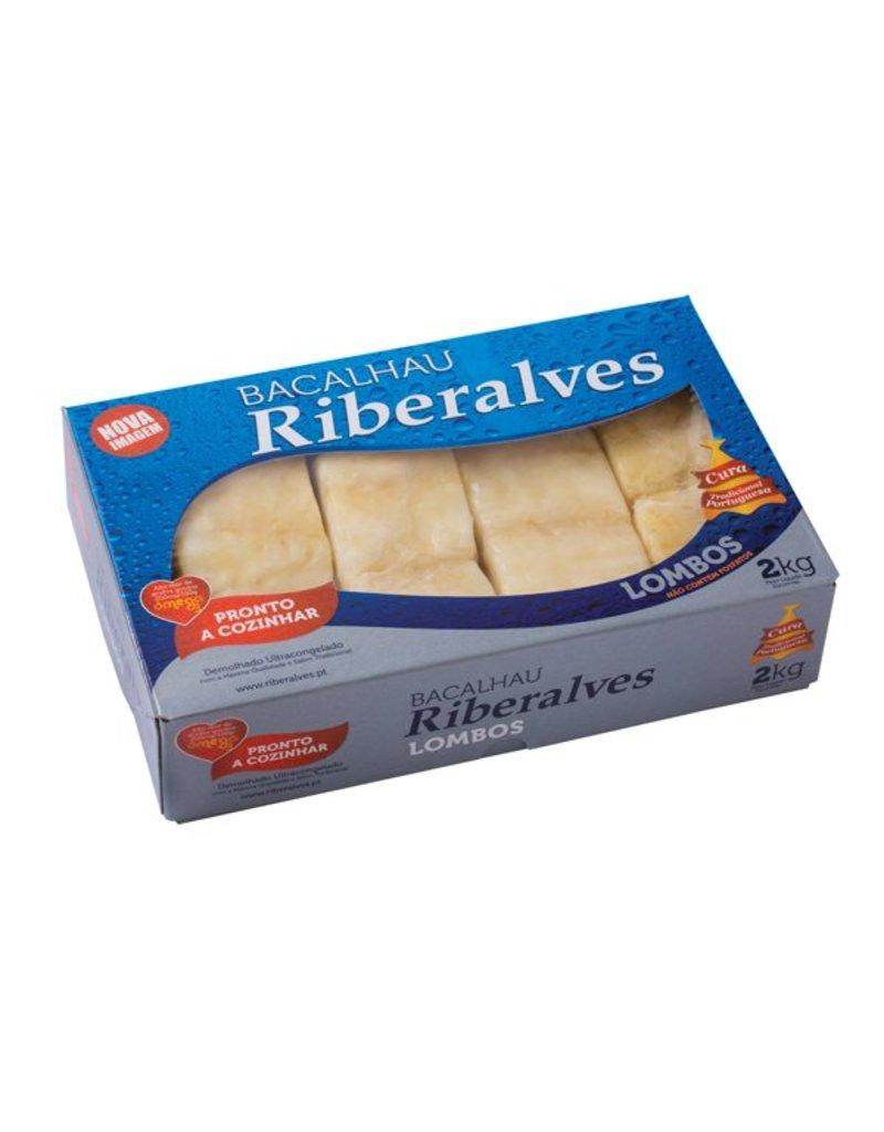 Riberalves Pre-soaked Cod Fish Loin - frozen - 2 kg