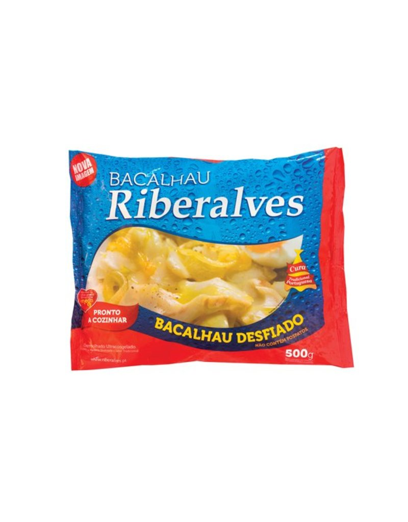 Riberalves Pre-soaked frozen Cod shredded - 400g