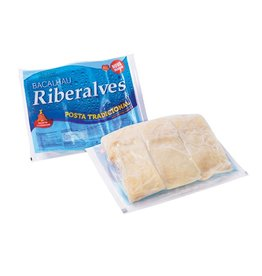 Riberalves Pre-soaked traditional codfish - frozen - 800g