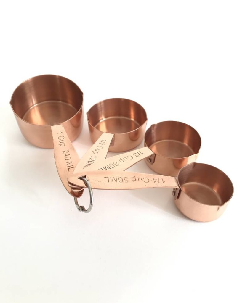 Measuring Cups Stainless Steel w/Copper Finish Set of 4