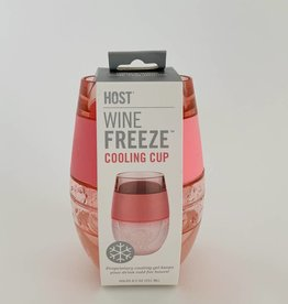 Wine Freeze Cooling Cup Translucent Pink