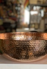 Hammered Metal Bowl w/ Copper Finish 14""