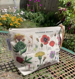 Cavallini Papers WILDFLOWERS VINTAGE POUCH