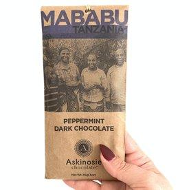 ASKINOSIE Peppermint Dark Chocolate Bar