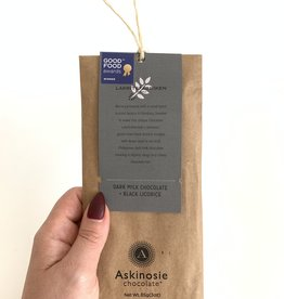 ASKINOSIE Dark Milk Chocolate + Black Licorice Collabaration Bar