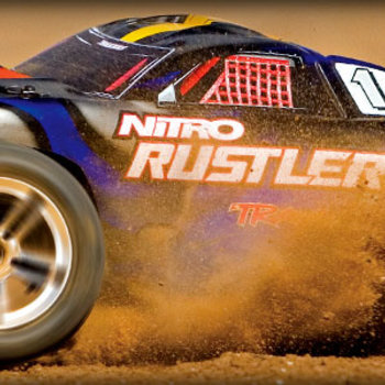 Traxxas Nitro Rustler: 1/10-Scale Nitro-Powered 2WD Stadium Truck with TQi Traxxas Link Enabled 2.4GHz Radio System & TSM