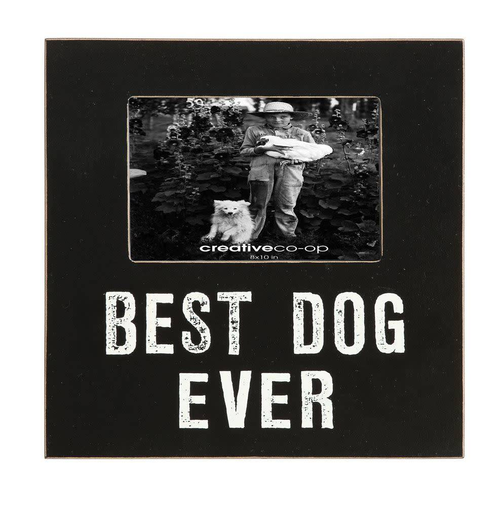Creative Co-Op, Inc. Frame Best Dog Ever, Black, 9.5in Sq incP