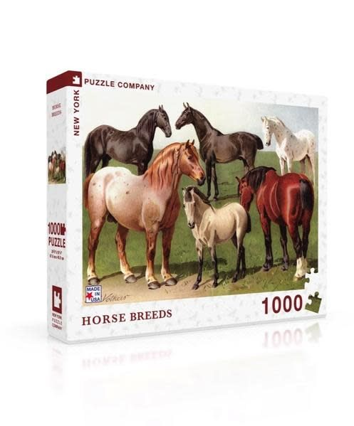 New York Puzzle Co. PUZZLE Horse Breeds