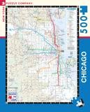 New York Puzzle Co. PUZZLE Chicago Transit Map