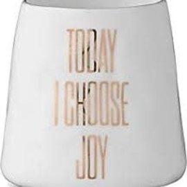 "Bloomingville USA Tealight Holder - Today I Choose Joy 3""H"