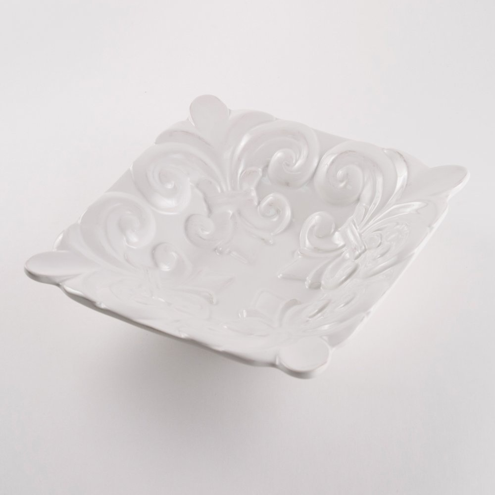 The Royal Standard Fleur de Lis Square Bowl 9x9x2.5in 39775