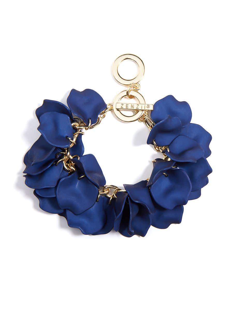Zenzii Painted Petals Chain Bracelet