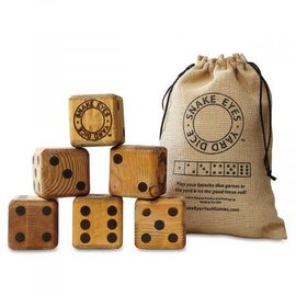 The grommet Snake Eyes - Wooden Yard Dice